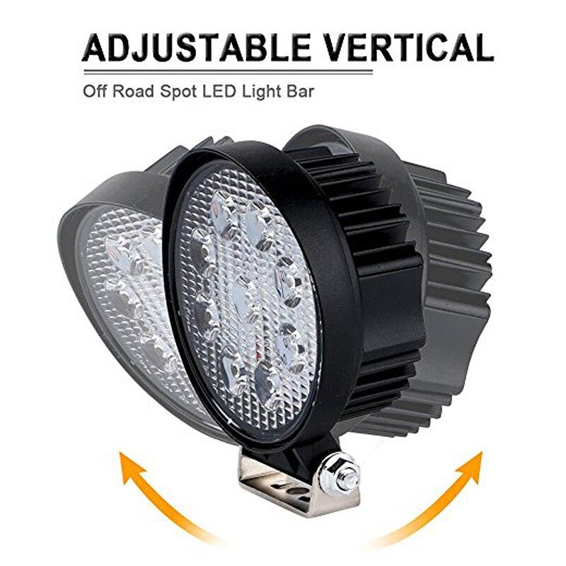 Круговой Off Road работы свет фар Резервное копирование лампы Универсальный свет работы комплект 27 Вт 6500 К Светодиодный прожектор вождения Тум...
