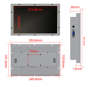 Image 2 - 10.1 بوصة شاشة إطار مفتوح المعادن الصناعية عرض شاشة محمولة HDMI VGA DVI AV الإخراج
