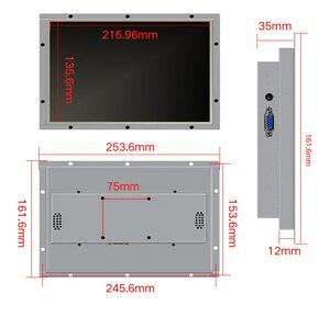 Image 2 - 10.1 polegada quadro aberto monitor de metal caso display industrial portátil monitor hdmi vga dvi av saída