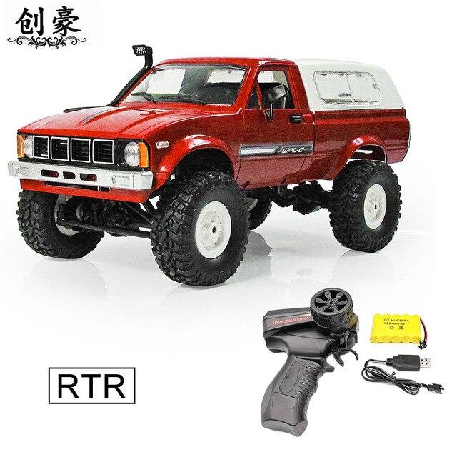 RC Carro C24 2.4g Kit Caminhão 4WD Dragão Cartão Exército Brinquedos Do Carro Rastreador Off-road Caminhão Do Carro Modificado modelo Produzido RTR Brinquedo Crianças
