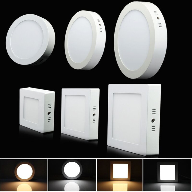 9W 15W 25W Surface Mounted LED Ceiling Lamp 3000K 4000K 6000K Round/Square LED Panel Downlights for Bathroom Lighting AC85-265V9W 15W 25W Surface Mounted LED Ceiling Lamp 3000K 4000K 6000K Round/Square LED Panel Downlights for Bathroom Lighting AC85-265V