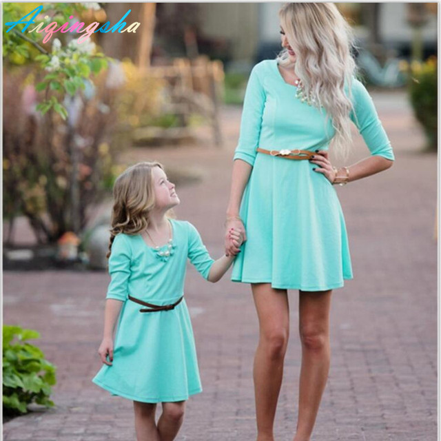 2017 mommy and me mother daughter dresses matching clothes