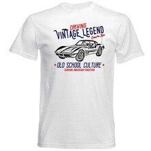 fdb3038fd Vintage American Car Chevrolet Corvette C3 - New Cotton T-Shirt Men's  Summer Short Sleeve
