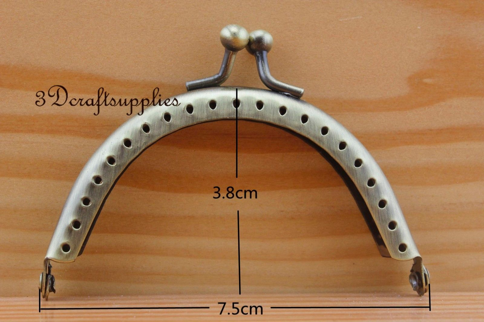sewing bag purse frame metal frame 3 inch x 1 1/2 inch Anti bronze A46