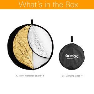 "Image 2 - Godox 32 ""80 cm 5 ב 1 כסף זהב נייד מתקפל אור העגול צילום תמונה רפלקטור לסטודיו"