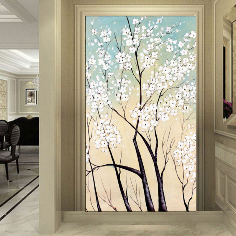 3D photo wall mural Art Wall living room Home improvement flower arch bridge porch textile wallpaper flower bridge river pattern 3d wall art sticker
