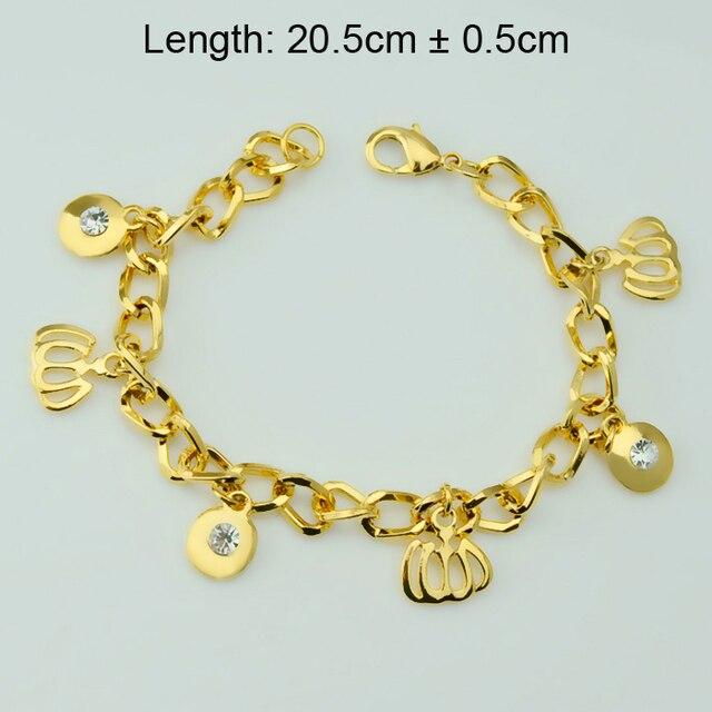 Bijoux Islam Allah Charm Bracelets Women Bangles,Yellow Gold Plated Filled 18k Moslem Item Arab Jewelry Link Chain Islam Flag