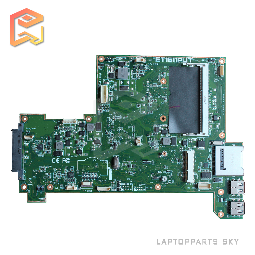 Original laptop motherboard for ASUS ET1611PUT REV:1.02G DDR3 mainboard fully tested free shipping