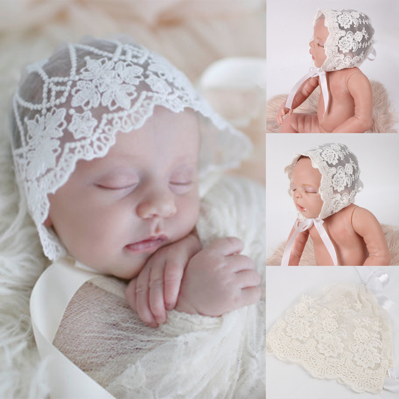 Cap Baby Gifts White Beanie Birthday Photo Prop Lace Newborn Hat
