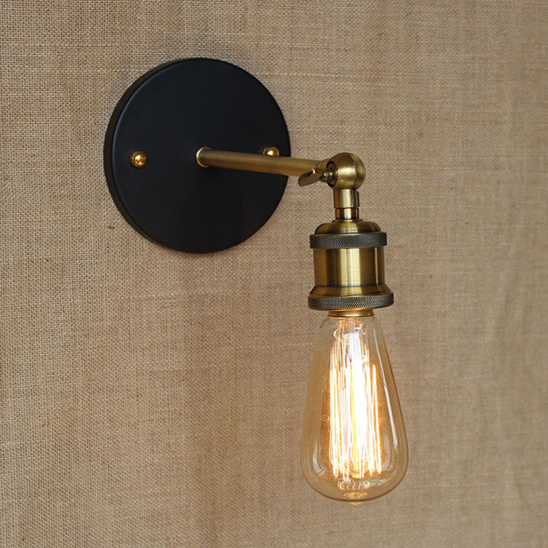 Modern brief LOFT Bronze adjust wall lamp for Bar Bathroom study bedroom balcony diningroom Vanity Lights E27 110-220V