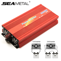 Car Power Inverter DC 12V 24V AC 220V 4000W 2000W Sine Wave Solar Battery Voltage Transformer Auto Electronic Supply Accessories