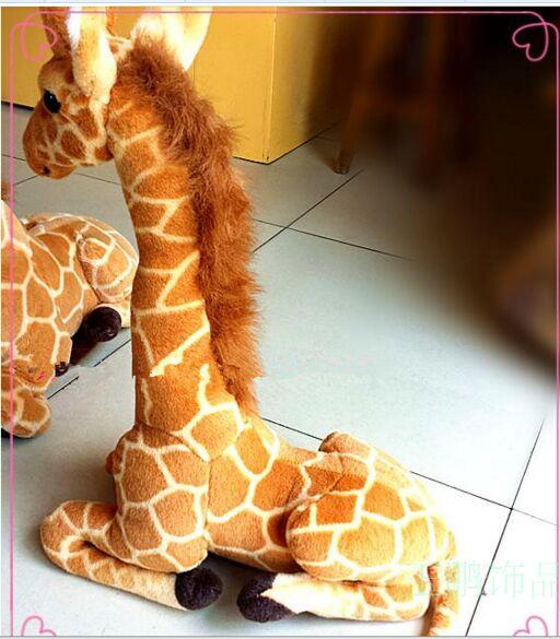 small simulation giraffe toy lovely sitting giraffe doll gift about 53cm