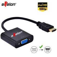 Effelon HDMI To VGA Cable Adapter HDMI Male to VGA Female Adapter HDMI To VGA Cable Converter For Laptop Notebook Monitors