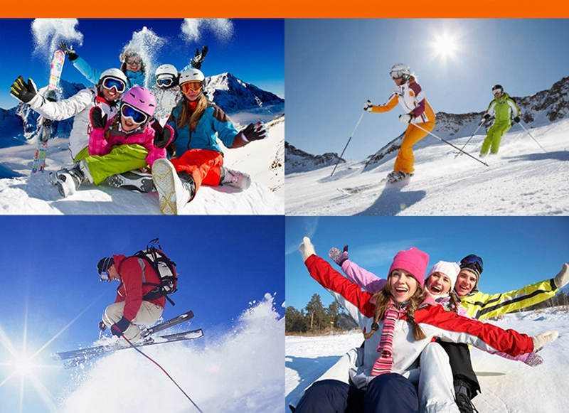 Óculos de esqui uv400 lente dupla anti-nevoeiro