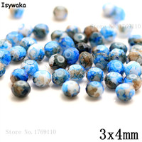 Isywaka 3X4mm 30,000pcs Rondelle Austria faceted Crystal Glass Beads Loose Spacer Round Beads Jewelry Making NO.43