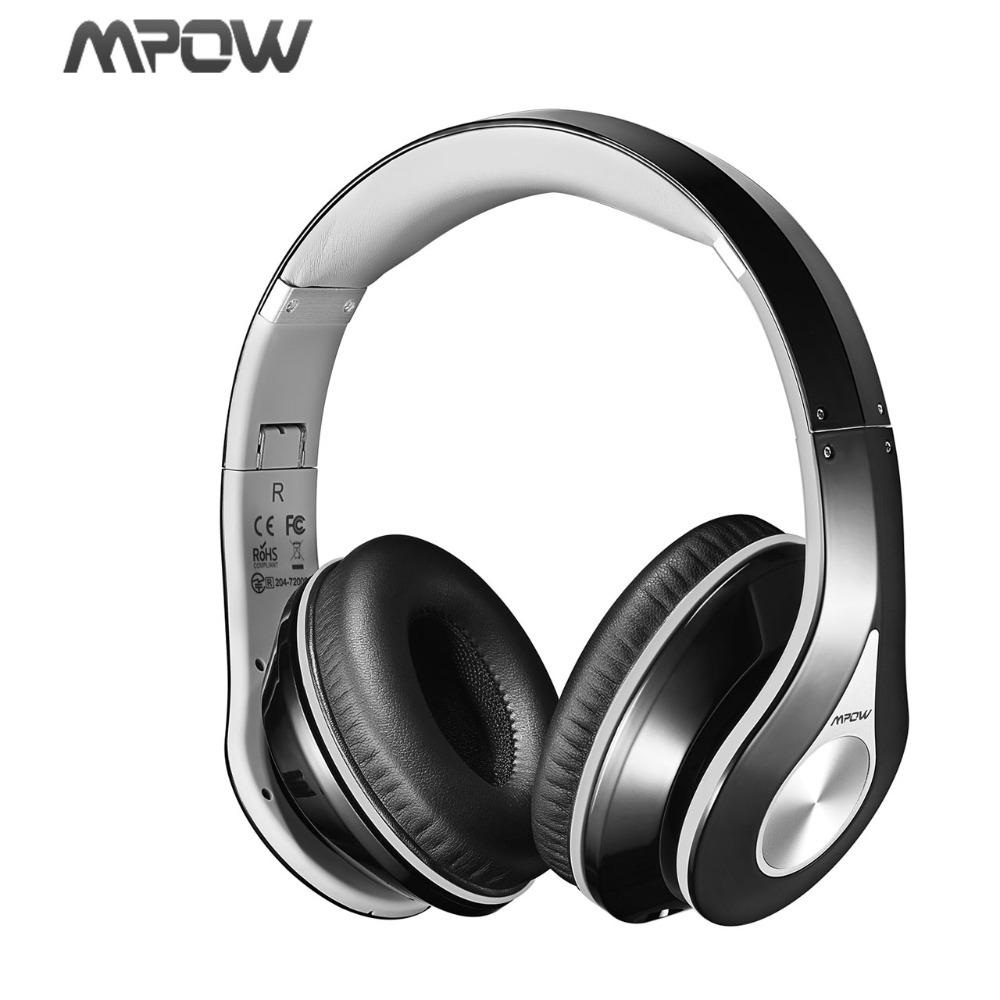 Mpow MPBH059AH On-Ear Bluetooth Headphones with Noise Cancelling Stereo, Foldable Headband, Ergonomic Designed Soft Earmuffs