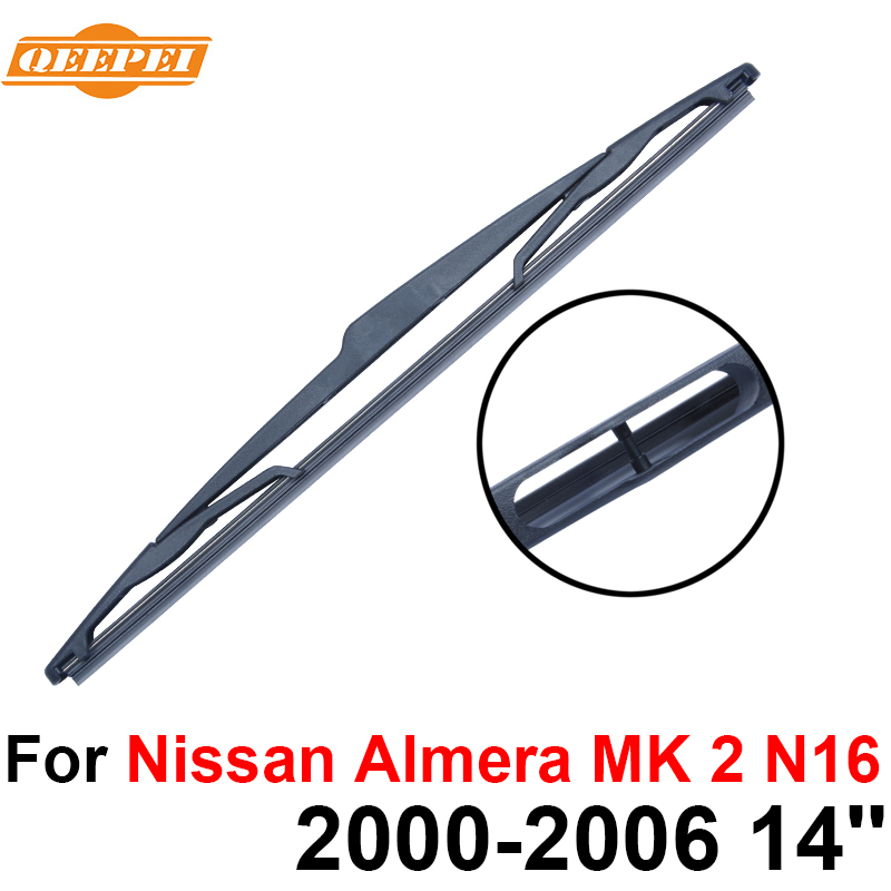 Auto Replacement Parts Glasses & Windows Tireless Qeepei Rear Wiper Blade No Arm For Nissan Almera Mk 2 N16 2000-2006 14 3/5 Door Hatchback High Quality Iso9000 Natural Rubber