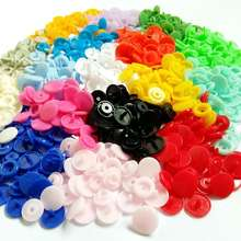 30-100Sets T5(12mm) Mixed Colors T5 baby Resin snaps buttons Quilt Cover Sheet Button Garment Stud Fasteners