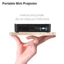 Uhuru Portable Mini LED Projector Wifi Smart DLP Pico Projector with HDMI/USB VGA Wireless Control for Business Travel Outdoor
