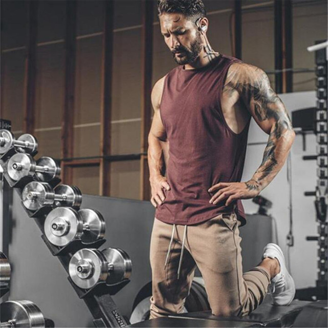 2018 Gyms Clothing Bodybuilding Tank Top Men Fitness Singlet Sleeveless Shirt Cotton Muscle Guys Brand Undershirt For Boy Vest