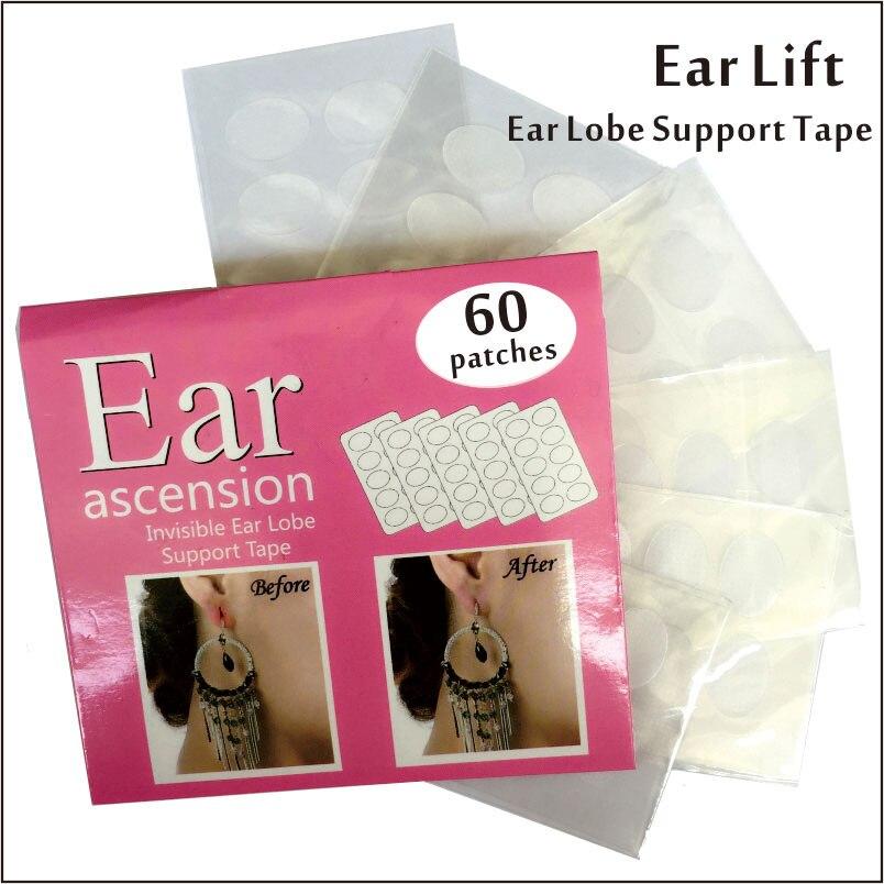 Невидимая прижимная лента для ушных раковин идеально подходит для Растягивающихся или рваных ушных раковин и снимает напряжение от тяжелы...