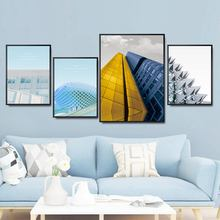 Home Decoration Print Canvas Wall Art Picture Poster Paintings Oil Unframed Drawings Modern architecture Yellow
