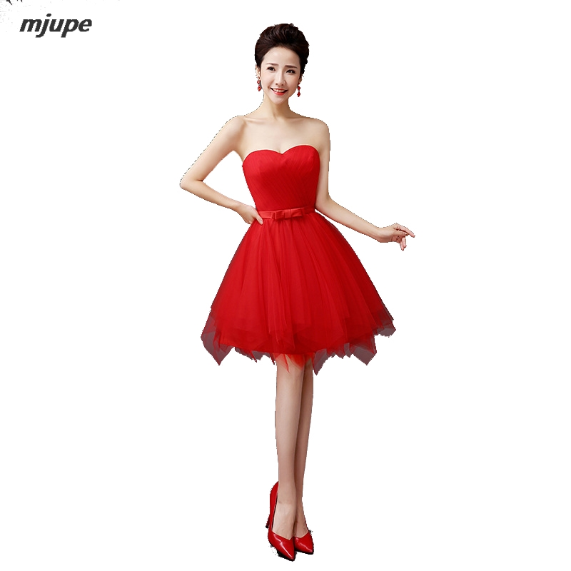 Strapless Red Prom Dress Promotion-Shop for Promotional Strapless ...