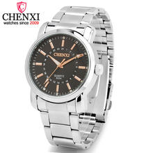 CHENXI Marca Luxo Casual Elegante Relógio Homens Inoxidável Completa Sports Presente Relógio de Quartzo Rosa de Ouro relógio de Pulso Masculino Relogio masculino
