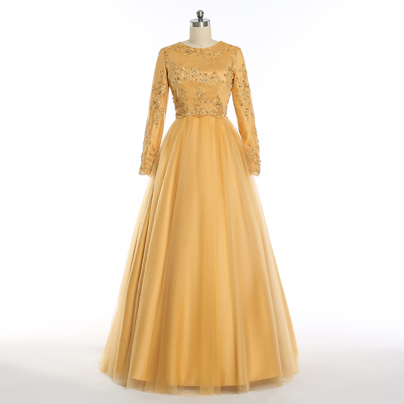 ruthshen Muslim Evening Dresses 2018 Long Sleeves Lace Appliques Plus Size  Formal Prom Dress Evening Gowns Vestido De Festa 22dab5beba42