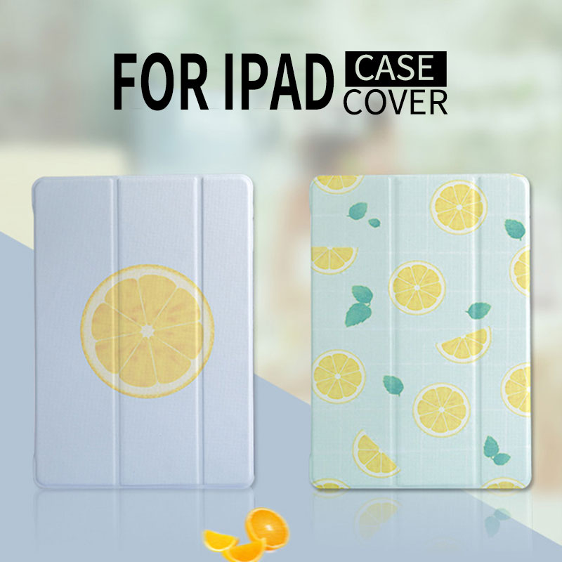 Asometech For Ipad air 1 2 Elegant Lemon Painted Stand Protective Case For iPad mini 1 2 3 4 Magnet shockproof Back covers Shell стоимость