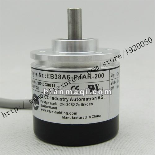 Suministrar Elco EB38A6-P4AR-200 rotary encoder eje sólido 6mm 200 cable diámetro exterior de 38mm