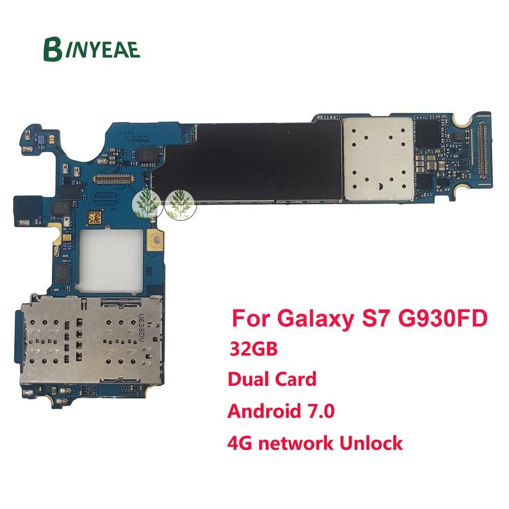 BINYEAE Débloqué Carte Mère Principale Remplacement Pour Samsung Galaxy S7 G930FD (Double Duos Carte) 32 gb