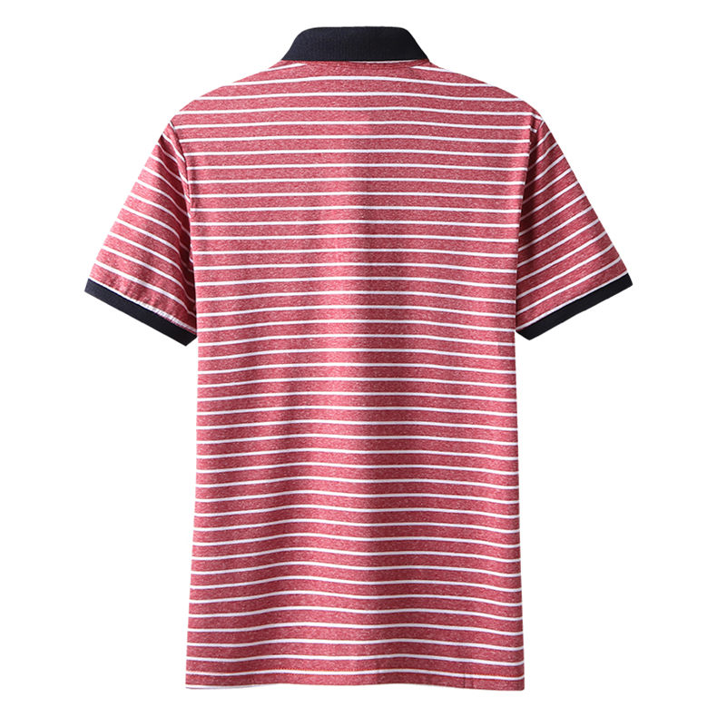 2Color Summer Cotton Polos Men 2019 New Short Sleeve Casual Korean Style Striped Male Polo Shirts Breathable MuLS Brand Clothing 2