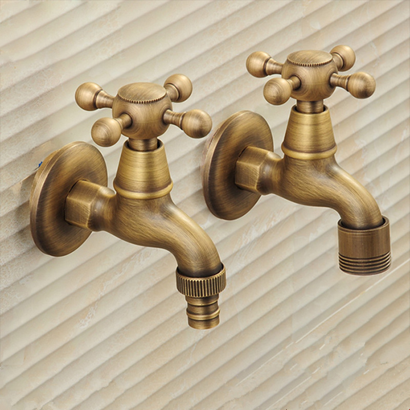 Robinet en laiton robinet de jardin Bibcocks Antique en laiton lave-linge robinet extérieur robinet simple robinet froid