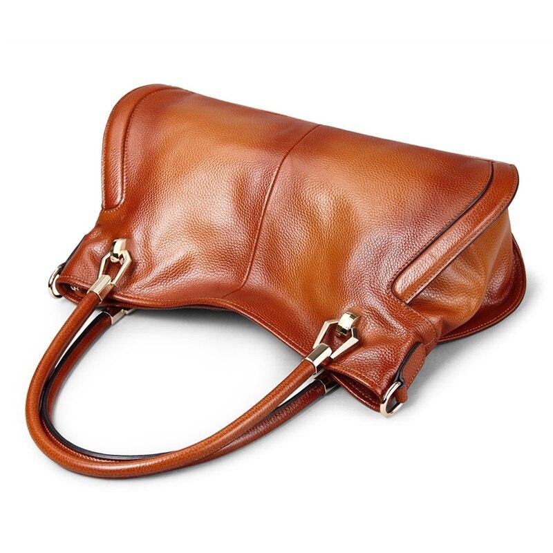 MESOUL ยี่ห้อผู้หญิง Cow หนังกระเป๋าถือหญิงไหล่กระเป๋า designer Luxury Lady Tote ขนาดใหญ่ความจุซิปกระเป๋าถือผู้หญิง-ใน กระเป๋าสะพายไหล่ จาก สัมภาระและกระเป๋า บน   3