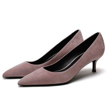 Women's Pumps Med Thin Heels Ladies OL Pointed Toe High Heel Shoes Red Black Shallow Spring Wedding Heeled Shoes F0043 baoyafang pointed toe patent leather womens wedding shoes black red blue ladies med heel pumps shoes woman buckle