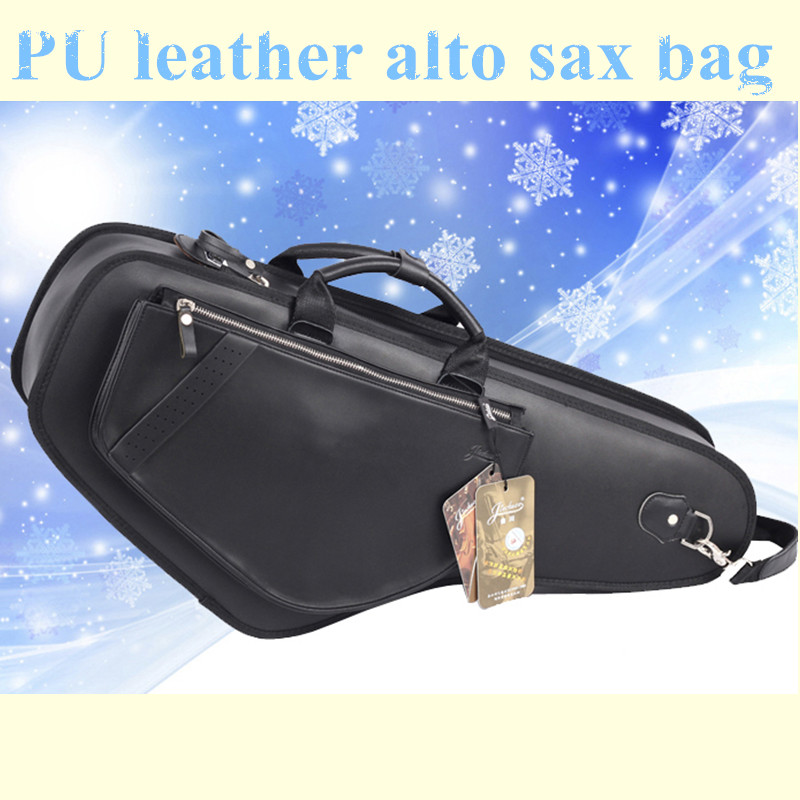 Professional brand design portable durable luxury PU leather alto saxophone bags Eb sax soft case cover backpack shoulder straps 90cm professional portable bamboo chinese dizi flute bag gig soft case design concert cover backpack adjustable shoulder strap