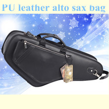Professional brand design portable durable luxury PU leather alto saxophone bags Eb sax soft case cover backpack shoulder straps
