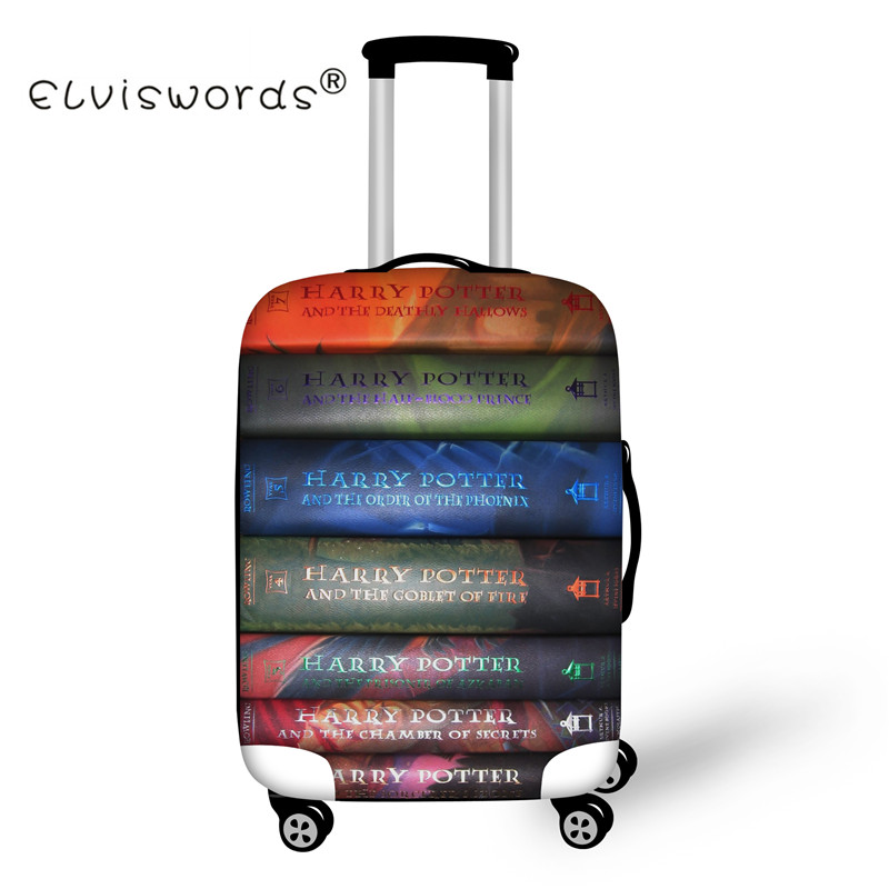 ELVISWORDS Cartoon Book Movie Print Luggage Cover Dustproof Suitcase Bags New Luggage ID Name Tags Customized Travel Accessories