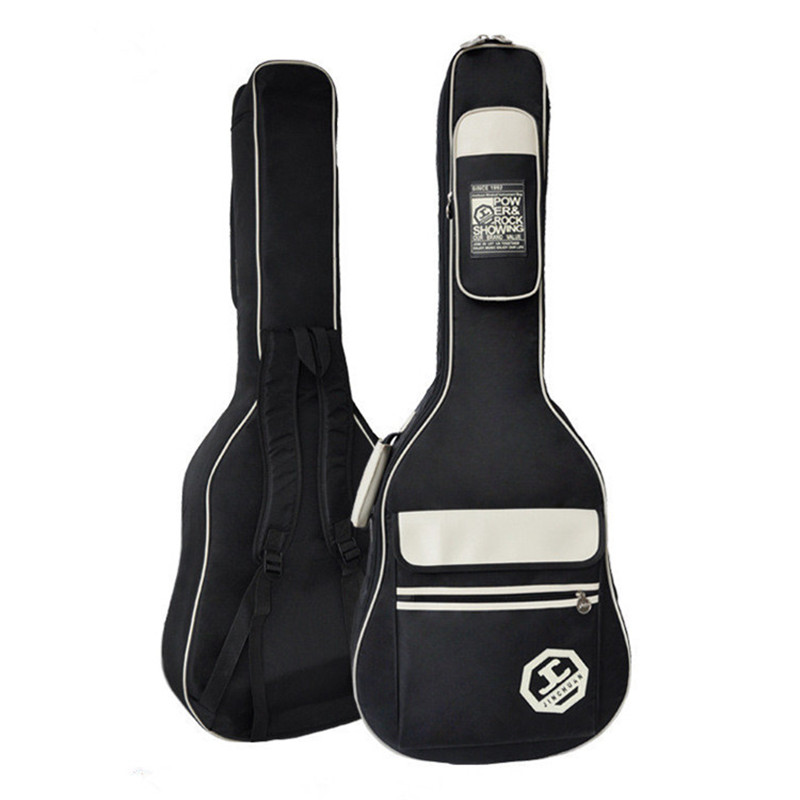 High grade 40 inch 41 inch senior guitar bag,folk guitar bag, thickening guitar backpack, acoustic guitar bag waterproof free shipping 40inch folk guitar cover waterproof 41inch folk bag travel guitar case 41inch guitar bag folk shoulder strap bag