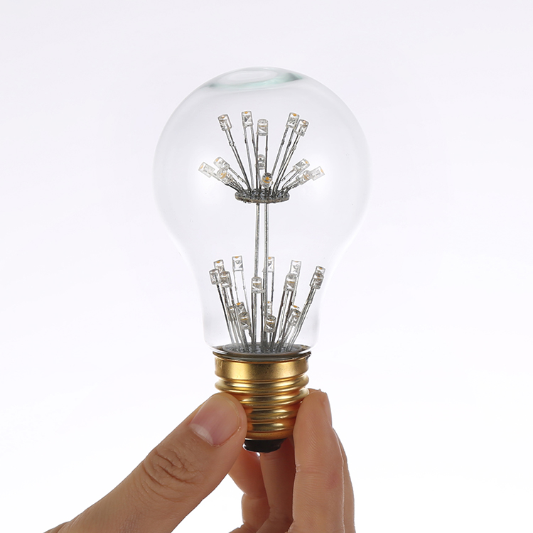 BMBY Antique Edison Light Lamp Bulbs A60 220V E27 3W Tungsten Incandescent Light Bulbs Retro Party Lighting Decor