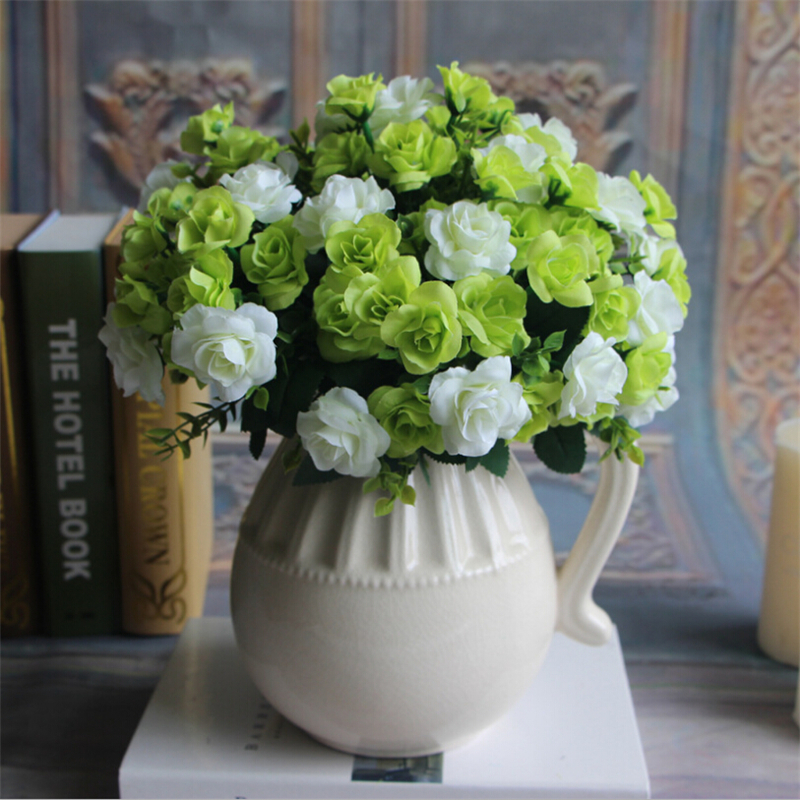 15 Heads 1 Bouquet Artificial Peony Flower Silk Roses Flores Artificiales Hydrangea For Wedding Bridal Party Home Decor
