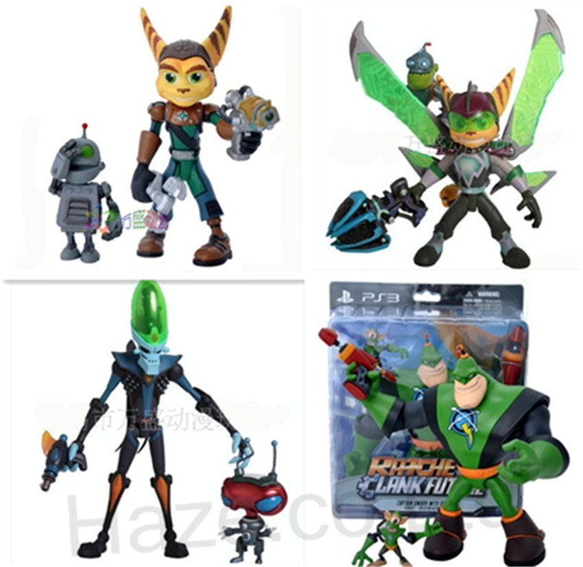 Game Ratchet Clank Character Figure Model Collection With Box