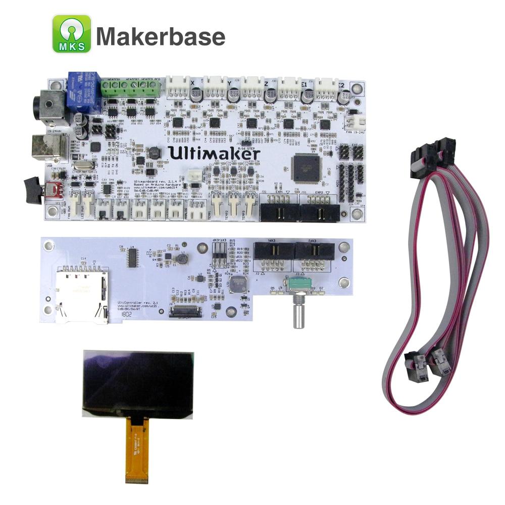 Ultimaker kit UM2 V2.1.4 mainboard com tela OLED inteligente controlador de placa mãe PCB da placa de circuito do painel de controle eletrônico