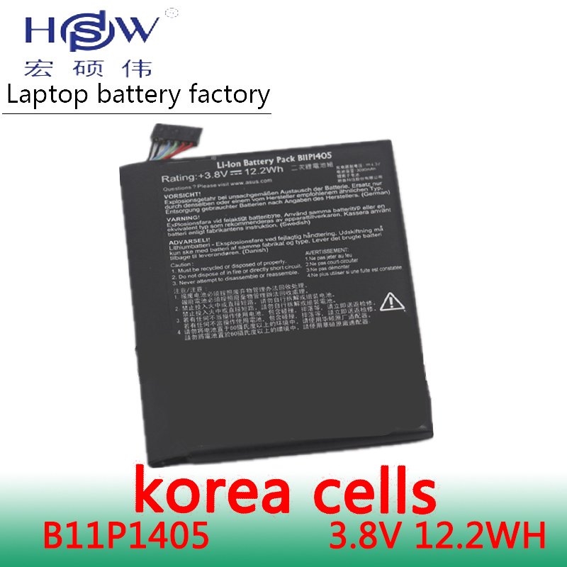 HSW battery 3 8V 12 2WH for asus MeMo pad 7 K01A ME170CX ME70CX B11P1405 bateria akku in Laptop Batteries from Computer Office