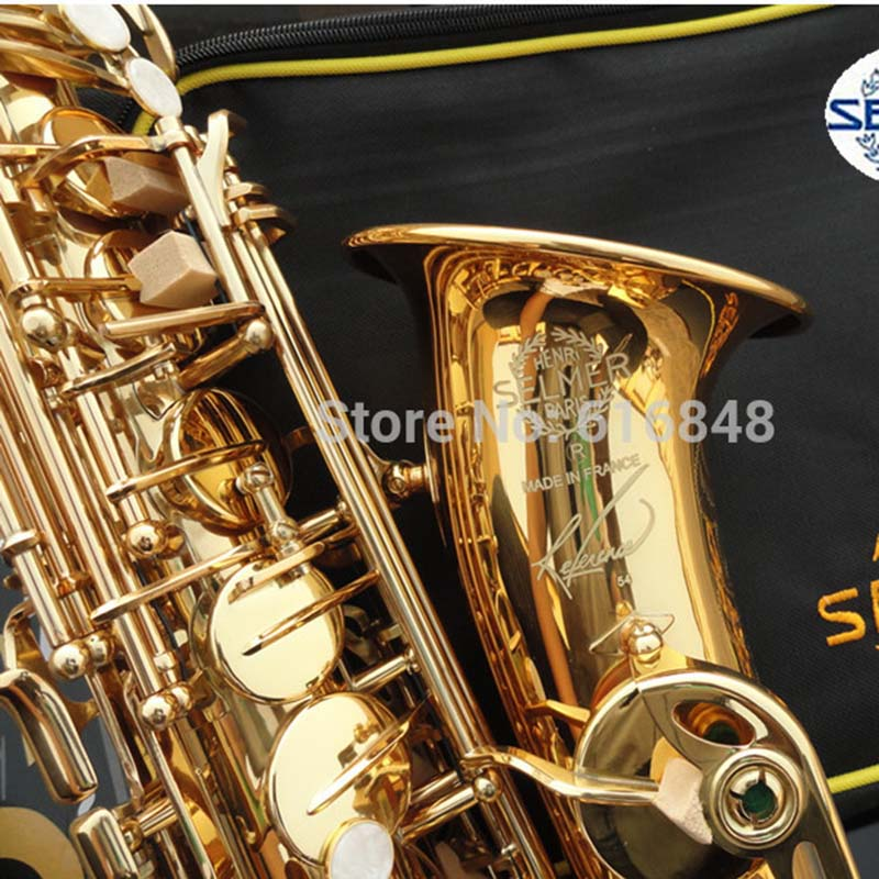 Saxophone Copy France Henri Selmer Musical Instruments Professional Alto Saxophone Reference 54 Electrophoresis Gold Hot Selling