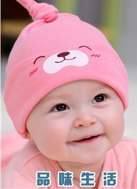 Cute Lovely Baby Child Sleep Hat Newborn Sleep Cap The Baby Cap With
