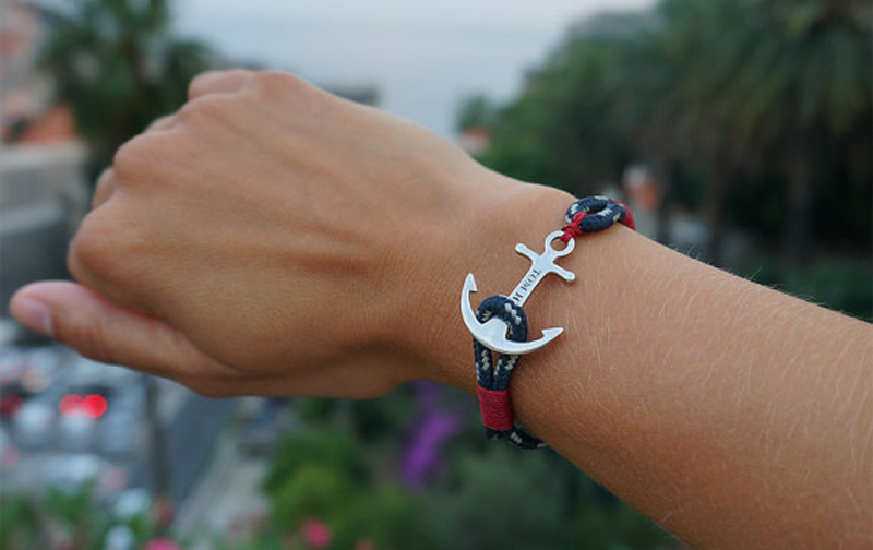2015 New Hot Sale Tom Hope Store Atlantic Red Anchor Bracelet Handmade  Silver Nautical Charm Bracelets Jewelry for Men Gift-in Charm Bracelets  from Jewelry ... ec5e62f160b3