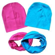 Набор шапок и шарфов для девочек на весну, осень и зиму, вязаные крючком детские шапки, хлопковые шапки для мальчиков и девочек, шапочки для м...