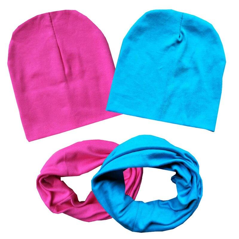 Spring Autumn Winter Girls Hat Scarf Set Crochet Children Hats Girl Boy Cotton Caps Baby   Beanies   Toddlers Kids Hat Scarf Collars